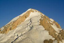 Free High Rocky Mountain Peak With Glacier Stock Photos - 6269233