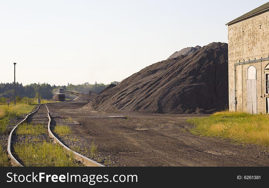 Coal Loading in Rail Yard