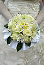 Free Bride Holding Yellow Bouquet Stock Image - 6270471