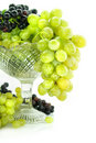 Free Cluster Of Green And Blue Grape Isolated On White Stock Photos - 6272653