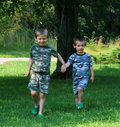 Free Brothers Running Stock Images - 6273594