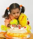Free Asian Girl Celebrating Birthday Stock Photo - 6277970