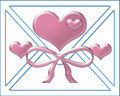 Free Pink Heart And White Envelope Stock Photography - 6278142
