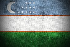 Free Grunge Flag Of Uzbekistan Stock Images - 6270114