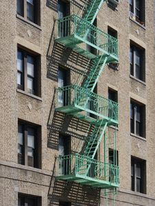 Free USA New York City Aprtment Building Fire Escape_3 Royalty Free Stock Image - 6270746
