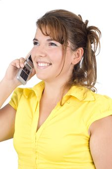 Free Girl Talking On The Phone Stock Photos - 6270953
