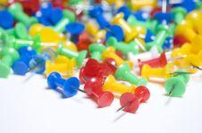 Free Thumb Tacks Close Up Stock Images - 6271114