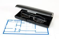 Blueprint For A House Royalty Free Stock Photography