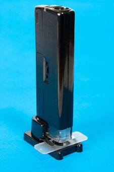 Free Pocket Microscope On Blue Royalty Free Stock Image - 6271326