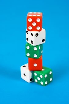 Stack Of Gaming Dice Stock Images