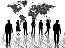 Free Business People And Map Royalty Free Stock Photos - 6272238