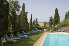 Free TUSCANY Countryside With Cypress And Pool Royalty Free Stock Images - 6272639