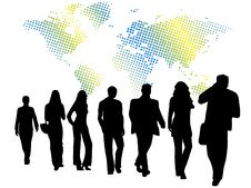 Free Business People And Map Stock Photography - 6272962