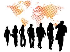 Free Business People And Map Stock Photography - 6273022