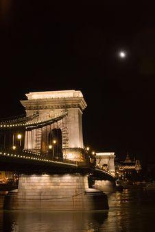 Free Chain-bridge At Night Stock Photography - 6273242