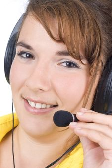 Customer Service Agent Stock Image