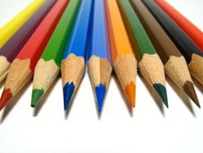 Free Coloured Pencils Royalty Free Stock Photos - 6273658