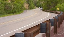 A Curvy Mountain Road Royalty Free Stock Photography