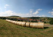 Free Haybales In A German Landscape In The North Of Hes Stock Photos - 6274143