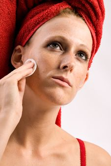 Free Removing The Make-up From My Face Stock Image - 6274911