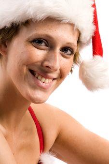 Free Flirting Beautiful Christmas Faerie Royalty Free Stock Image - 6274946