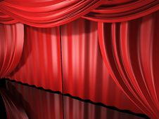 Free Red Stage Drapes Royalty Free Stock Photos - 6275468
