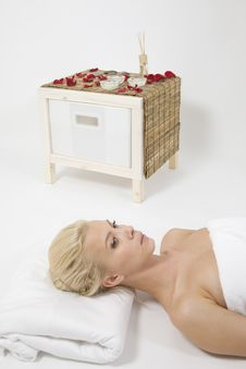 Woman Taking Spa Treatment Stock Photography
