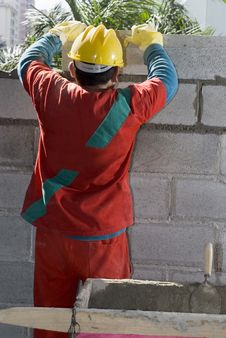 Free Constructions Worker At Site Stock Image - 6275581