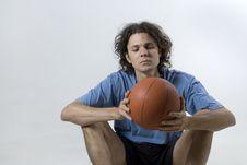 Free Man With Basketball-Horizontal Stock Photo - 6275690