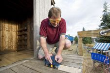 Free Man With Power Tool Royalty Free Stock Image - 6275716
