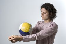 Volleyball Player With Ball Royalty Free Stock Photos