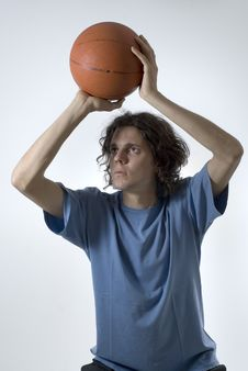 Free Man With Basketball Stock Photo - 6275920