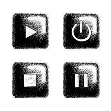 Free Sketchy Square Button Stock Photography - 6276662