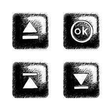 Free Sketchy Square Button Stock Images - 6276884
