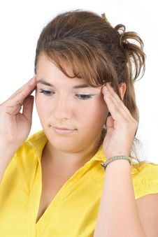 Free Girl With A Headache Stock Photos - 6277003
