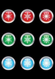 Free Snowflakes Collection Royalty Free Stock Image - 6277066