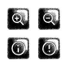 Free Sketchy Square Button Royalty Free Stock Photo - 6277545