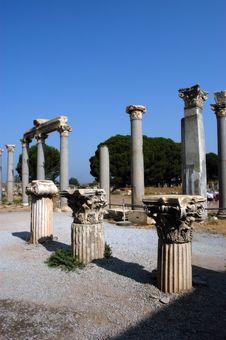 Ancient Temple In Ephesus Royalty Free Stock Photography