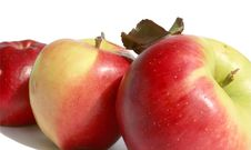 Free Three Ripe Apples On A White Background Royalty Free Stock Photos - 6277838