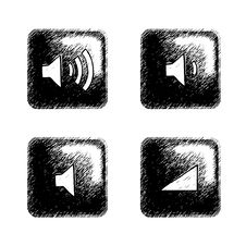 Free Sketchy Square Button Stock Image - 6277931