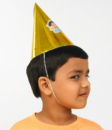 Asian Boy Celebrating Stock Photography