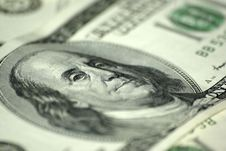 Free One Hundred Dollars Bill Stock Image - 6278141