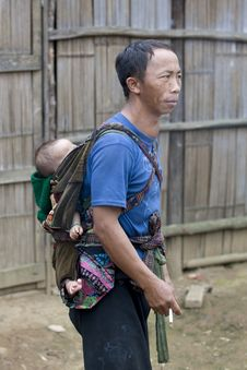 Free Father With Baby In Laos Stock Photos - 6278483