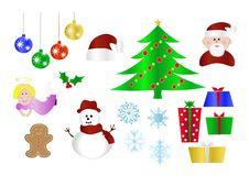 Free Christmas Icons Royalty Free Stock Photos - 6279088