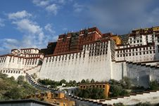 Tibet S Potala Palace In Lhasa Stock Photos