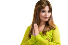 Free Asian Muslim Woman Wearing Traditional Clothes Royalty Free Stock Images - 6279559