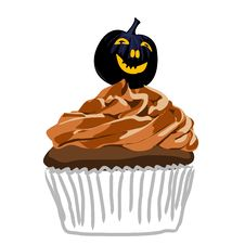 Free Halloween Cupcake Royalty Free Stock Image - 6279786