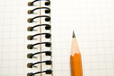 Free Opened Notebook  And Pencil On Over White Royalty Free Stock Images - 62791759