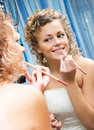 Free Pretty Bride Near The Mirror Royalty Free Stock Image - 6285596
