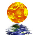 Free Planet Earth Reflected On Top Of Water Stock Images - 6286924